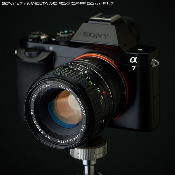 SONYa7+MINOLTA-MC-ROKKOR-PF50mm